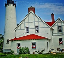 """""""Up North""""-Point Iroquois Lighthouse, Upper Pennusula, Michigan by Kathy Russell"""