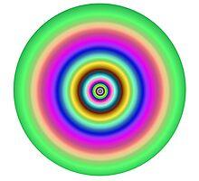 Circles target image. Photographic Print