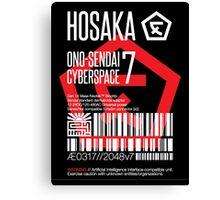 Hosaka Ono-Sendai Cyberspace 7 Label - Prints/Sticker only Canvas Print