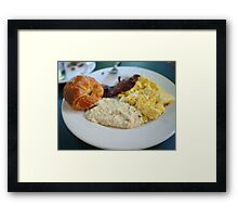 Cafe Amelie - Breakfast with Croissant & Grits Framed Print