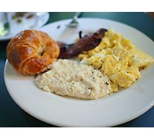 Cafe Amelie - Breakfast with Croissant & Grits Photographic Print