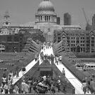 St Pauls from Millenium Bridge by grimbomid