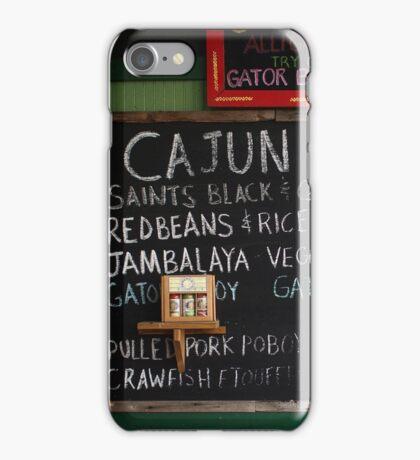 Cajun Cafe Menu 2 iPhone Case/Skin