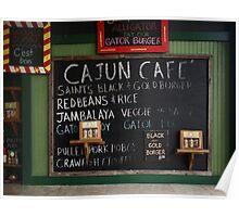 Cajun Cafe Menu 2 Poster