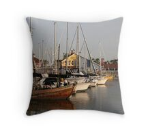 Line of Yachts Throw Pillow