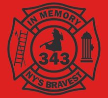 In Memory of NY 343 style BLK One Piece - Short Sleeve