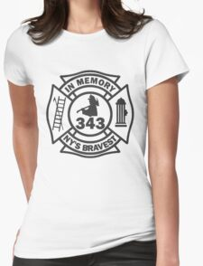 In Memory of NY 343 style BLK Womens Fitted T-Shirt