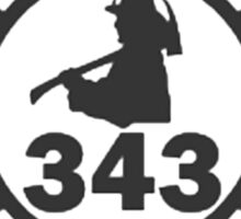 In Memory of NY 343 style BLK Sticker