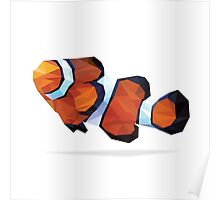 Geometric Abstract Clown Fish Poster