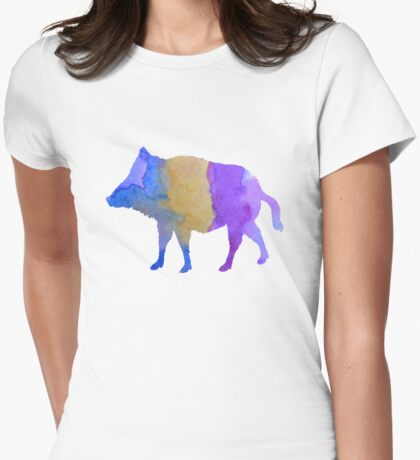 Wild boar Womens Fitted T-Shirt