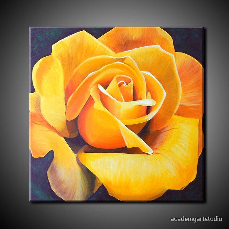 YELLOW ROSE by academyartstudio