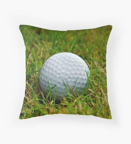 Golf Ball in the rough Throw Pillow