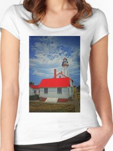 White Fish Point- Michigan Women's Fitted Scoop T-Shirt