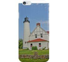Point Iroquois Lighthouse, Upper Pennusula, Michigan iPhone Case/Skin