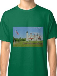 Point Iroquois Lighthouse, Upper Pennusula, Michigan Classic T-Shirt