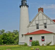 Point Iroquois Lighthouse, Upper Pennusula, Michigan Sticker