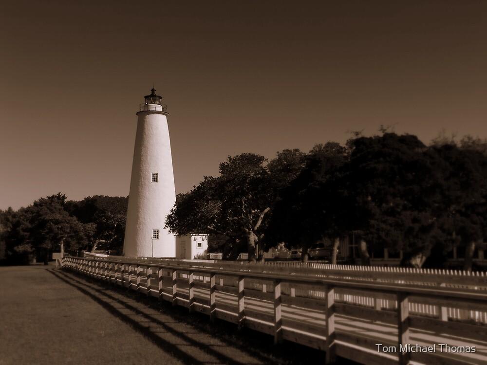 Ocracoke Lighthouse, North Carolina Outer Banks by Tom Michael Thomas