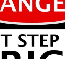 DANGER DON'T STEP ON A BRICK FAKE FUNNY SAFETY SIGN SIGNAGE Sticker