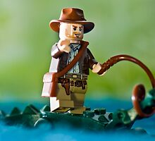 Indiana Jones with an Alligator by jarodface