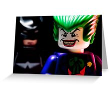 Joker and Batman Greeting Card