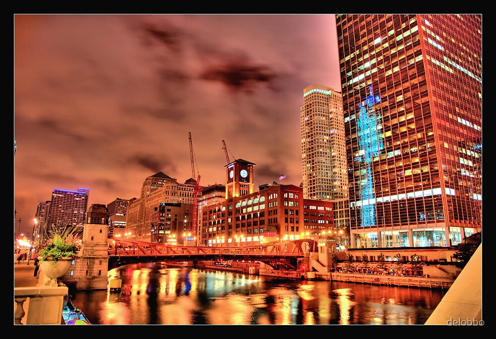 Revisited: Chicago River at Clark Street Bridge. by delobbo
