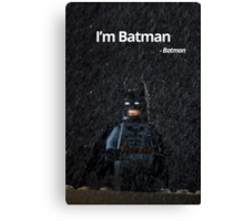 I'm Batman - Batman. Canvas Print