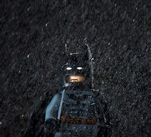 Batman in a storm by jarodface