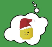 Santa Minifig Head by Bubble-Tees.com by Bubble-Tees