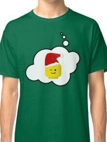Santa Minifig Head by Bubble-Tees.com Classic T-Shirt