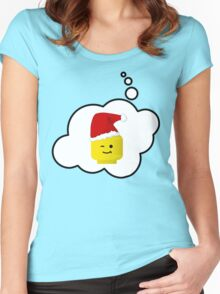 Santa Minifig Head by Bubble-Tees.com Women's Fitted Scoop T-Shirt