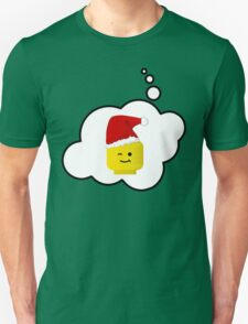 Santa Minifig Head by Bubble-Tees.com T-Shirt