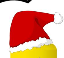 Santa Minifig Head by Bubble-Tees.com Sticker