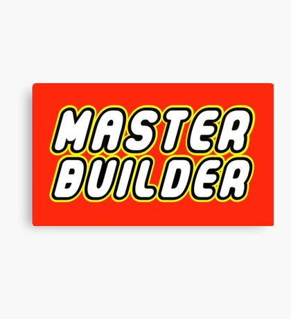 MASTER BUILDER Canvas Print