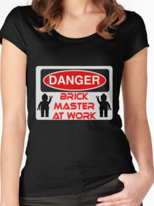 Danger Brick Master at Work Sign Women's Fitted Scoop T-Shirt