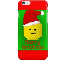 Merry Christmas Santa Minifig by Customize My Minifig iPhone Case/Skin