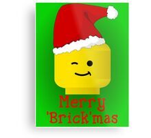 Merry Christmas Santa Minifig by Customize My Minifig Metal Print