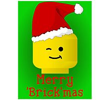 Merry Christmas Santa Minifig by Customize My Minifig Photographic Print