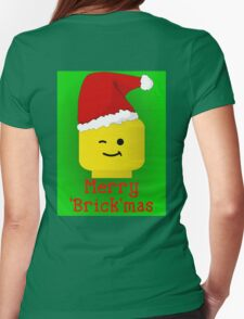 Merry Christmas Santa Minifig by Customize My Minifig Womens Fitted T-Shirt