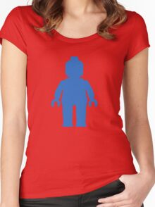 Minifig [Blue] Women's Fitted Scoop T-Shirt