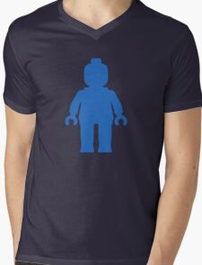 Minifig [Blue] Mens V-Neck T-Shirt