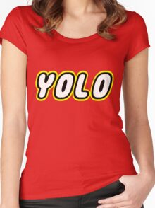 YOLO by Customize My Minifig Women's Fitted Scoop T-Shirt