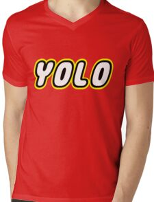 YOLO by Customize My Minifig Mens V-Neck T-Shirt