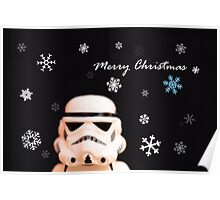 Trooper Christmas card Poster