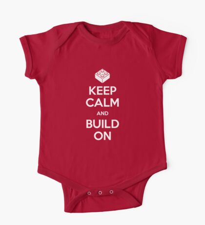 Keep Calm and Build On Kids Clothes