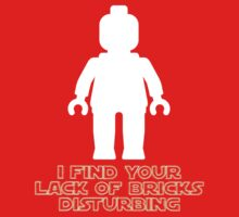 """I Find Your Lack of Bricks Disturbing"" by Customize My Minifig One Piece - Long Sleeve"