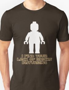 """I Find Your Lack of Bricks Disturbing"" by Customize My Minifig Unisex T-Shirt"