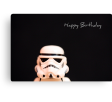 Trooper birthday card Canvas Print