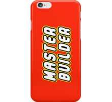 MASTER BUILDER by Customize My Minifig iPhone Case/Skin
