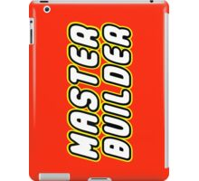 MASTER BUILDER by Customize My Minifig iPad Case/Skin