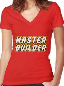 MASTER BUILDER Women's Fitted V-Neck T-Shirt
